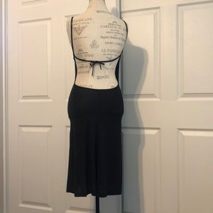 4/$20 Feminine black dress with sexy open back